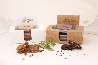 Glee raw bar double chocolate and classic boxes